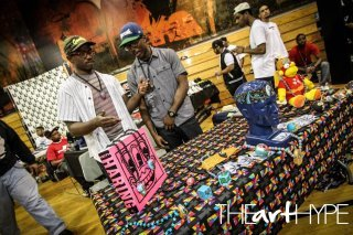 ponchopieces:  ponchopieces at baltimore sneaker show 2k12