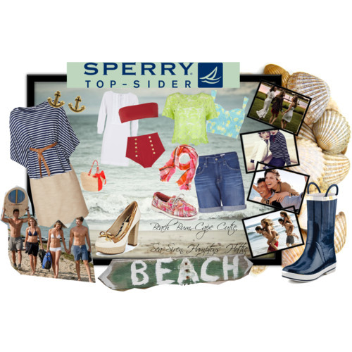 Sperry Top Sider Sea Style by auroran-as featuring tote handbags