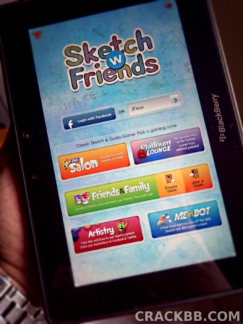 Sketch W Friends 2.0 for the BlackBerry PlayBook now Available!