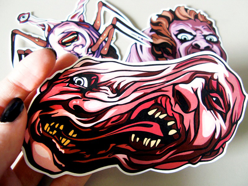 THE THING stickers are now on sale in my etsy shop! Get them before they shape-shift into some other unassuming form! Click through for the listing.