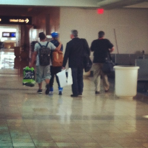 Justin at the airport