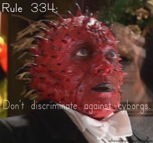 Rule 334: Don't discriminate against Cyborgs. SUbmission! [Image Credit]