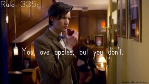 Rule 335: You love apples, but you don't. Submission! [Image Credit]