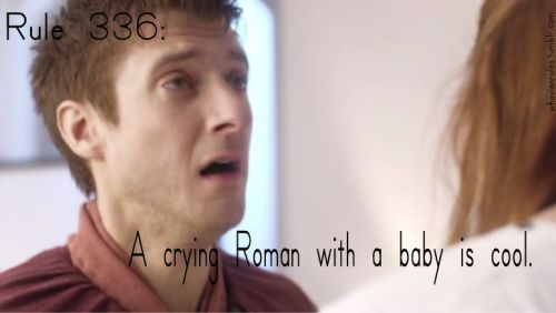 Rule 336: A crying Roman with a baby is cool. Submission! [Image Credit]