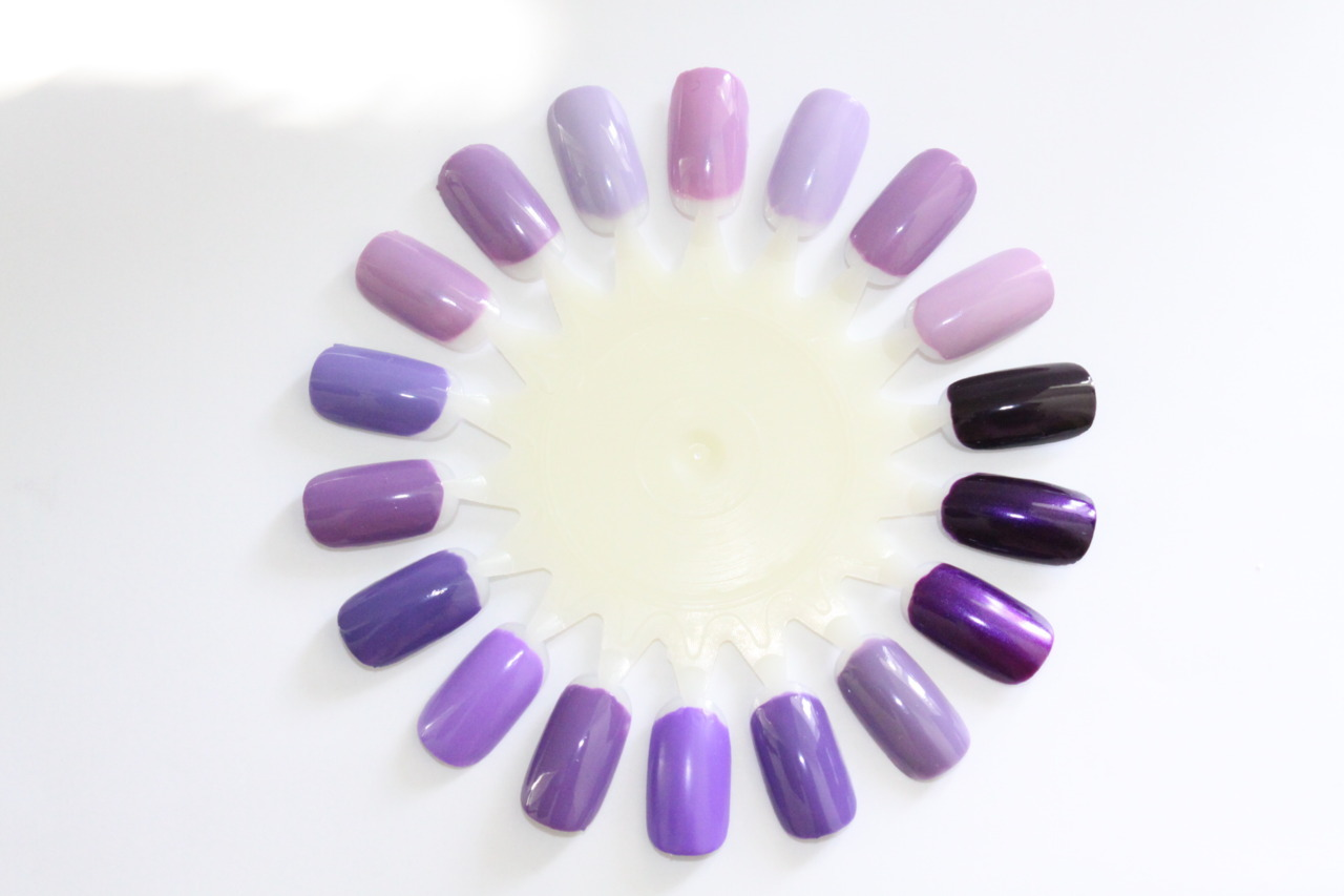 my purple nail varnish collection swatches! http://thelondonlipgloss.blogspot.com/2012/04/my-nail-collection-purples.html
