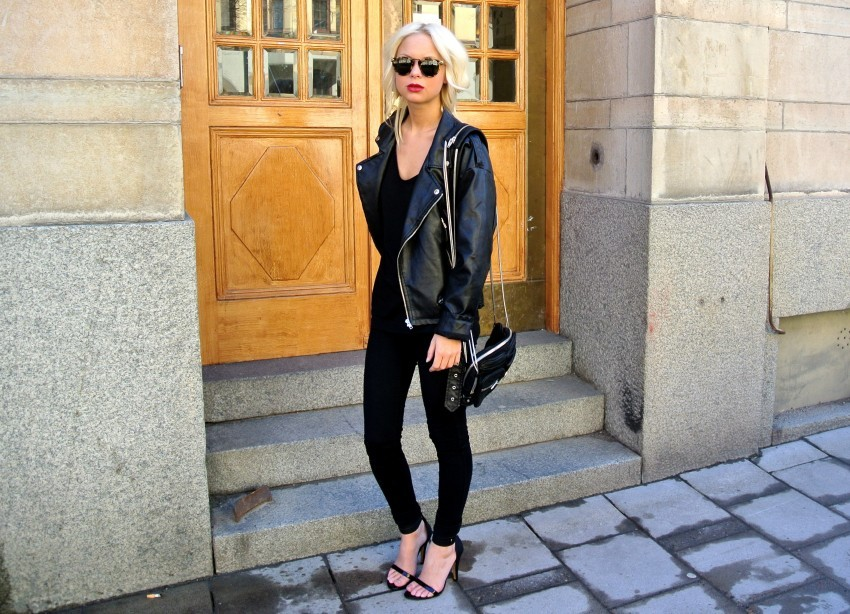 Shoes – Nelly, Jacket – Chicy, Sunglasses – Karen Walker (image: victoriatornegren)
