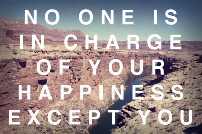 "tripoddiaries:  photo 267/365: ""No one is in charge of your happiness but you"" (Paulo Coelho[?]) © Ashley Herrin. just outside the Grand Canyon Twitter // Flickr // Facebook"