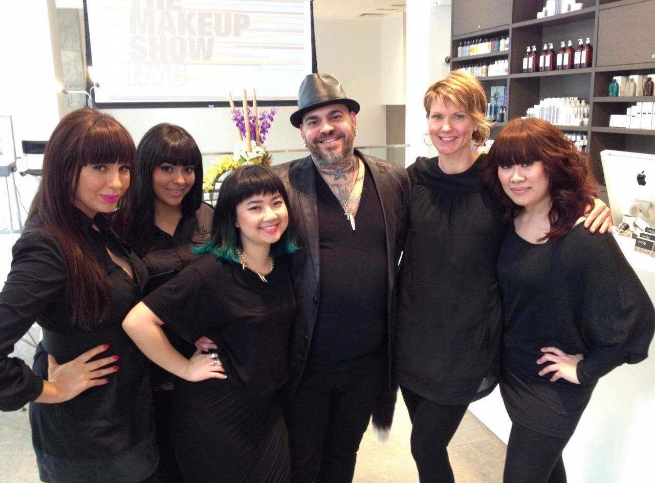 Myself and The Q-Team with make-up artist James Vincent. Incredible having him here!