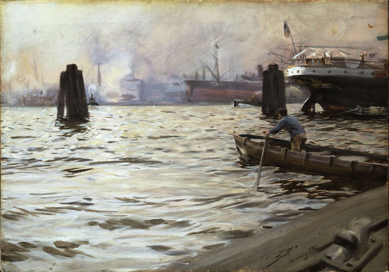 Port of Hamburg 1891 Anders Zorn