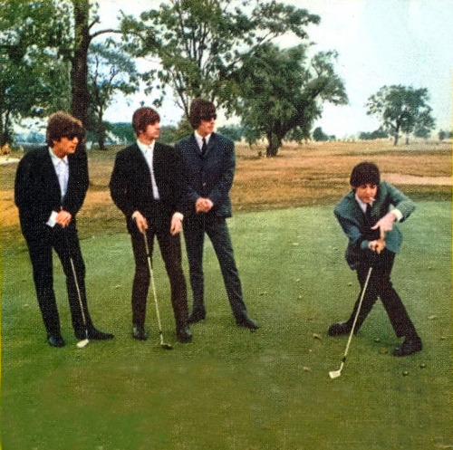 Silly Paul, that's not how you play golf. (Also George doesn't even have a club) (photo and caption submitted by me-as-a-scholar) Paul being a weirdo show-off and George being awkward - what's new?