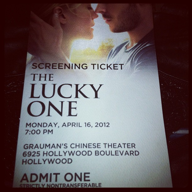 The Lucky One. Attempting to kidnap #ZacEfron (Taken with instagram)