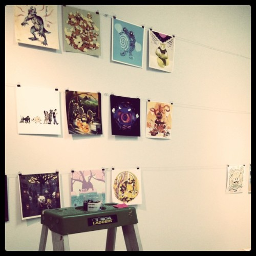 greaterthanorequalto:  Hanging the Pokemon show! #pokemonbattleroyale (Taken with instagram)  ___ Say, looking good! So exciting! & hey there, Psy Crew! (me, Sam & Meg!)