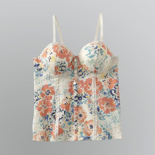 True Freedom Juniors Printed Cropped Bustier Top Sears - on sale for $13.99