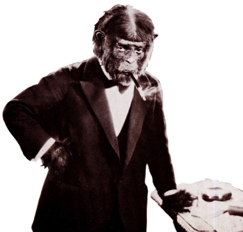 One of Jack Pierce's early creations from The Monkey Talks (1927)