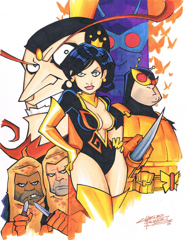 all-about-villains:  marker: Wrath of The Monarch by ~KidNotorious