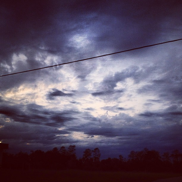 Do I scare you? Do I make you think? #sky #ominous #dark (Taken with instagram)