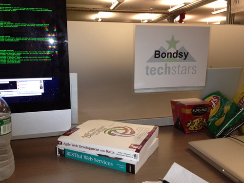 Night 1 at my new job - Bondsy and Techstars! @bondsy@ksheurs