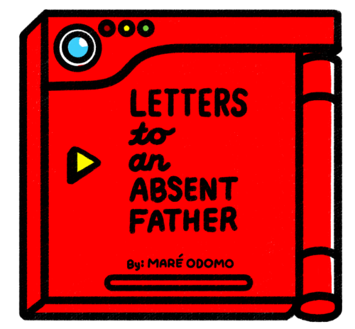 "mareodomo:  Reprinting my ""Letters To An Absent Father"" series. New cover. The minicomic contains strips 1-12, including the print-only exclusive. (Doesn't include the Attract Mode comic, which is #13.) I've scripted a few more, maybe I'll make more comics. There's an 8x8 print/comic coming soon, and I'm really excited for you guys to see it. You can pre-order the comic here. Pre-order ends on Friday (the 20th) and I'll mail everything throughout the week. $5 for the comic. An extra $5 for a custom drawing!"