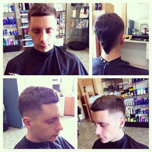 #haircut by #me #fade #fauxhawk #work #supercuts #nj 💇 (Taken with instagram)