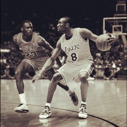 Legends at work #jordan #kobe #legends #basketball #GOAT #NBA  (Taken with instagram)