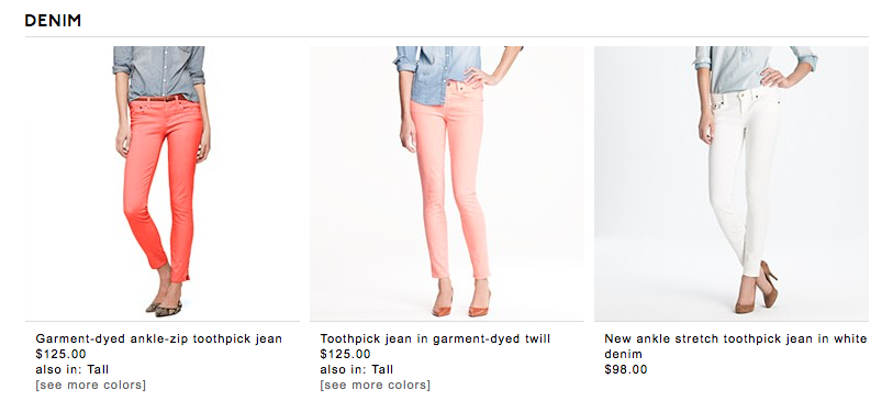 the excitement is overwhelming jcrew