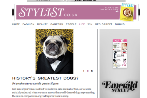 we were featured on stylist magazine from the UK the other day. check out their piece on canine chronicles here! thanks stylist from across the sea!