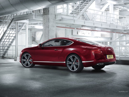 Red Bentley coupe.