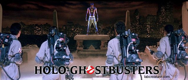 HOLOGHOSTBUSTERS: the Hologhost of Tapuc Shakur Meets the Ghostbusters. I had to do this, because let's face it - somebody was going to. Inspired by this.
