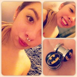new #jewelry for my #septum & new #batman #gauges for my ears since they'll never get any smaller 😒 #me  (Taken with instagram)