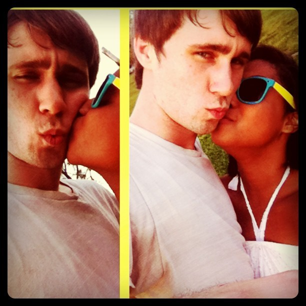 that kissy face just proves his extreme manliness (Taken with instagram)