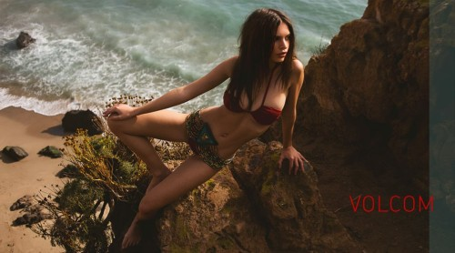 Emily Ratajkowski in a bikini for Surfline you will also like: time to travel.