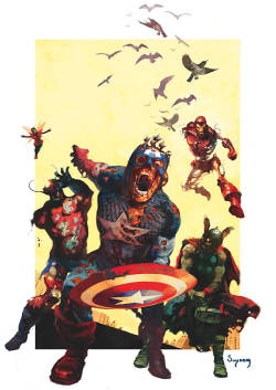 Artwork for cover of Marvel Zombies #2. January, 2006. Art by Arthur Suydam.