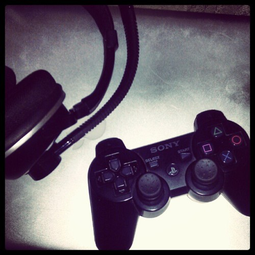 Time to unwind with some gaming. (Taken with instagram)