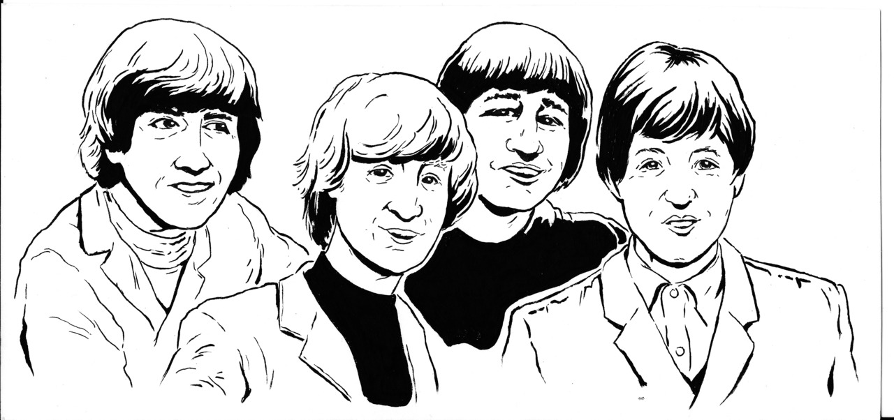Beatles (part 1 of show poster)