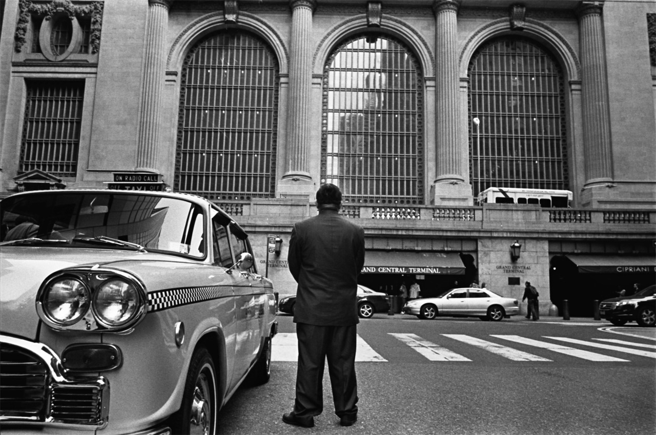 Taxi driver Grand Central station, New York April 2012
