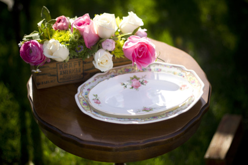 Vintage dishes for rent