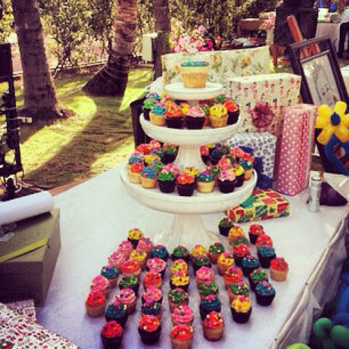 Super colorful, super mini and super cute custom cupcakes by Sweet + Sour!  (Taken with instagram)