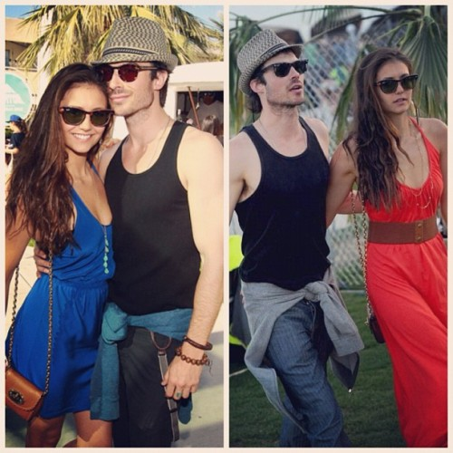The lovely @ninadobrev and @iansomerhalder at Coachella Music Festival 2012. 😍😘 (Taken with instagram)