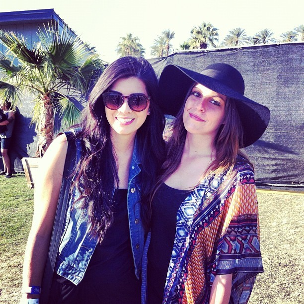 @briannaceaser & @amandaxrae covered #coachella all weekend check out all the photos at vans.com/coachella (Taken with instagram)