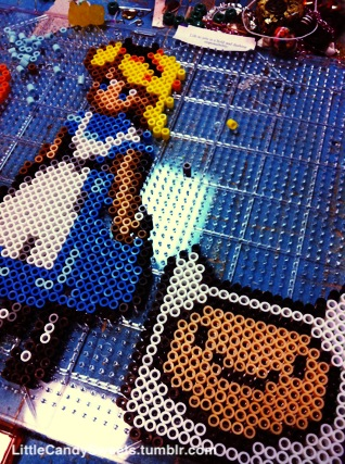 Working on some perler projects