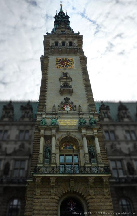 "Tilt & Shift #8  This is Hamburg City Hall. It's called the ""Rathaus"".   Rat House…for politicians…..heh heh ;-)"