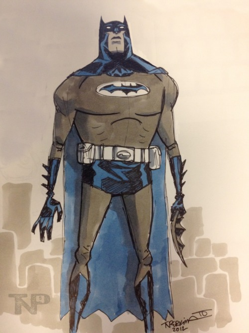 Derpy Batman … Just because sometimes you gotta draw yourself some Batman goodness….. Even if it is silly looking… ;)  Cheers!