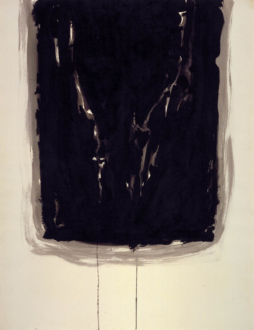 "Sam Francis ""Black Rectangle"""