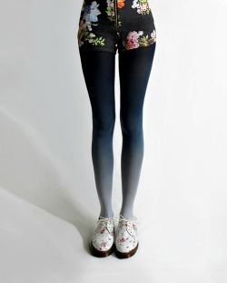 what-do-i-wear:  BZR Ombré tights in navy, at BZRshop