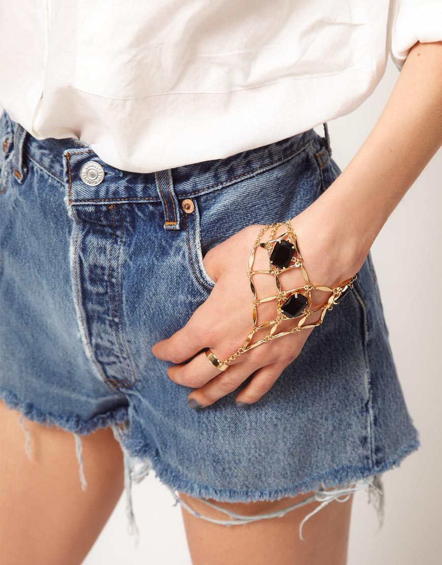 ASOS Stone Set Hand Harness