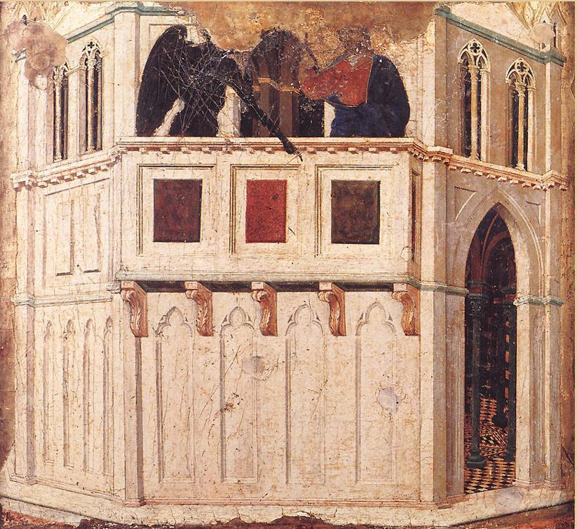 Duccio Temptation of Christ on the temple via