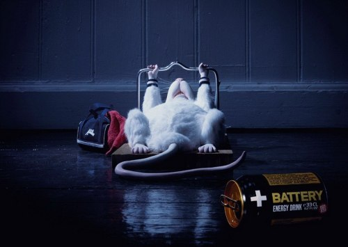 "ha. what a clever ad.  adsbyad:  Energy drink ""Battery"""