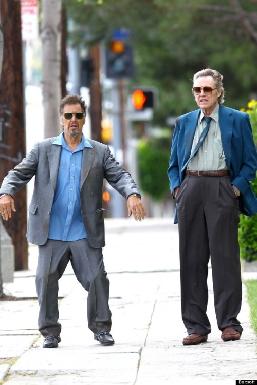 lol  awesomepeoplehangingouttogether:  Al Pacino and Christopher Walken