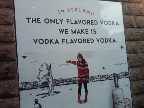 THE ONLY FLAVORED VODKA WE MAKE, IS VODKA FLAVORED VODKA  Taken Somewhere in Milwaukee