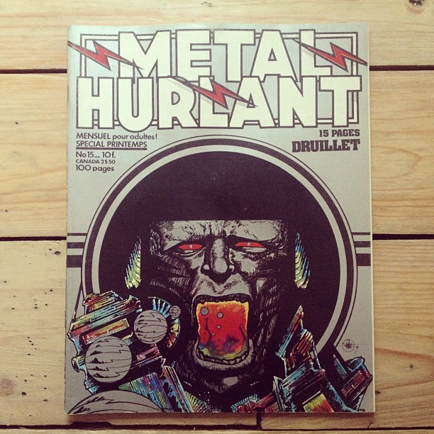 This is by far my favourite Metal Hurlant cover. Art by Druillet. (Taken with instagram)